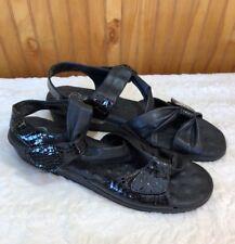 Elites Sandals by Walking Cradles - Black Patent Leather - Size 11