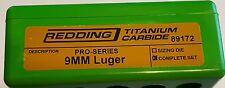 89172 REDDING TITANIUM CARBIDE PRO SERIES DIE SET - 9MM LUGER - BRAND NEW