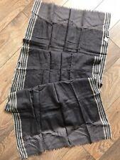 Epice Paris Scarf Shawl Wool Grey Stripped Muffler Large