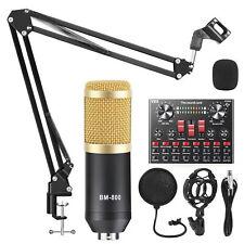 Kondensatormikrofon DJ Podcast Studio Mikrofone Komplett Gesangs Aufnahme Kits