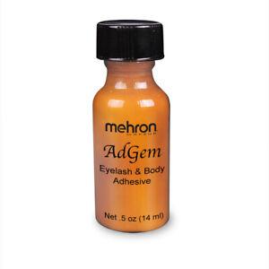 Mehron AdGem acrylic adhesive body face eyelash glue special FX stage TV model