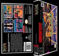 Raiden Trad - SNES Reproduction Art Case/Box No Game.