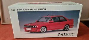 BMW E30 M3 Sport Evolution 70561 AUTOart Millenium 1:18 Red Nur Ovp!!!!