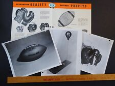 RARE ORIG Dealer Store Catalog & Photos 1952 BLS Leather Boxing Gloves Football