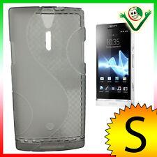 Pellicola display+Custodia WAVE Grigia  per Sony Xperia S LT26i cover aderente