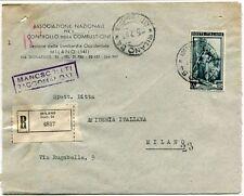 1951 Italia al Lavoro RACCOMANDATA Assoc. Nazionale Controllo Combustione Milano