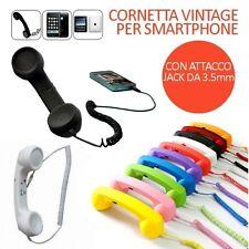 CORNETTA VINTAGE SMARTPHONE X APPLE IPHONE SAMSUNG PC NOTEBOOK JACK DA 3,5MM
