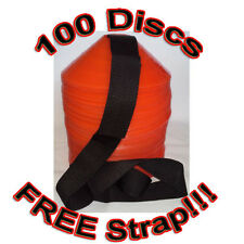 100 FIELD MARKING DISCS SOCCER BASKETBALL FOOTBALL
