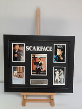 PROFESSIONALLY FRAMED, SIGNED AL PACINO - SCARFACE PHOTO COLLAGE WITH PLAQUE.