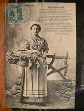 cpa 73 chambery la savoyarde costume paysanne