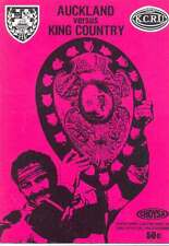 AUCKLAND v KING COUNTRY 25 Jun 1980 RUGBY PROGRAMME RANFURLY SHIELD