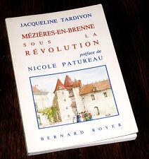Mézières-en-Brenne sous la Révolution 1989 Jacqueline Tardivon