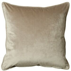 Soft French Velvet Feel Large Cushion Cover or Filled in Mink 55cm x 55cm