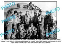 OLD 6 x 4 PHOTO AUSTRALIAN AIR FORCE PILOTS 77th SQUADRON KOREAN WAR c1951