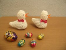 Easter chick covers for creme eggs -  knitting pattern