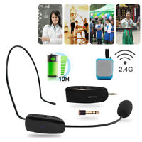 2.4G Wireless Microphone Speech Headset Megaphone Radio Mic for Loudspeaker New