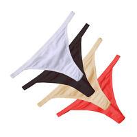 Women G-String Thongs Cotton Underwear Bikini Panties Tangas Knicker Ladies JKU