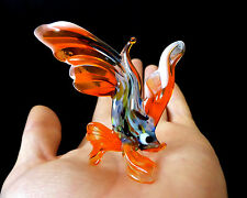"MURANO ITALY STYLE 2.6"" orang ART GLASS aquarium figurine GOLDFISH FISH ornament"