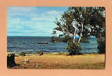 North Bay Lake Nipissing Northern Ontario Canada Unused Vintage Postcard Canoe