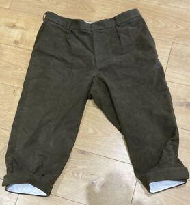 """C. Currey & Co., Bosham"" Classic Moleskin Breeks, Green, Size 38 R, Made in UK"