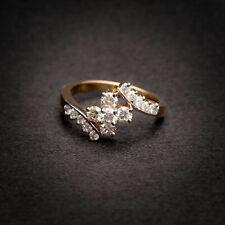 Pave 0,85 cts naturali diamanti Anniversario anello in 750 Solido 18K oro giallo