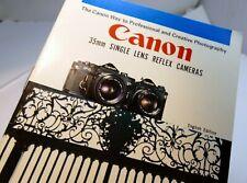Canon F-1 EF Sales Brochure Guide English  1973