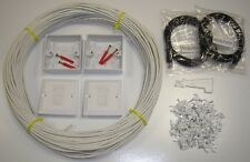 20 MTR Internall CAT5E Network Extension kit  Ethernet cable Kit 100% COPPER