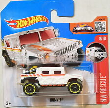 HOT WHEELS 2016 HW RESCUE #8/10 HUMVEE SHORT CARD