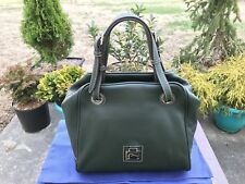 NWT Dooney & Bourke Florentine Leather Zip Around Grommet Large Satchel bag