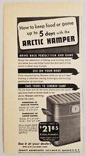 1947 Print Ad Arctic Hamper Coolers Boating,Camping Jewett Assoc. Buffalo,NY