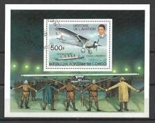 Avions Congo (10) bloc oblitéré