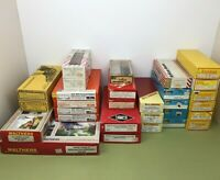 LARGE COLLECTION OF HO PLASTIC KITS HOPPERS WAGONS CABOOSES ETC -  SEE LISTING