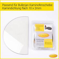 Kaminglas Ofenglas feuerfestes Glas Kaminscheibe Ofen passend Bullerjan01/02 -