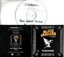 BLACK SABBATH Paranoid (Radio Edit) 2017 UK 1-trk promo test CD Ozzy Osbourne