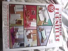 skil craft doll house furniture kit wood