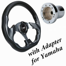 10L0L Golf Cart Steering Wheel with Adapter for Yamaha Golf Cart Us