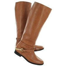 Ralph Lauren Jenny Leather Tall Riding equestrian Boots POLO TAN  9 Womens NEW