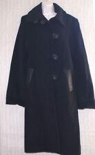 Dana Buchman Black Wool Angora Leather Trim Women Size:12