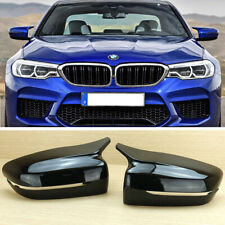Painted Black Side Mirror Cover For BMW G30 G31 G38 G11 G12 M Performance Model