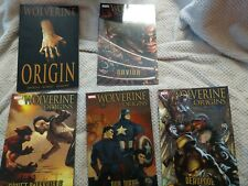Marvel Comics TPB Wolverine Origins Lot 1-5 soft cover Deadpool Our War +More