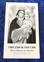 Vintage Antique Saint Notre Dame Holy Prayer Card Catholic Religious Protection
