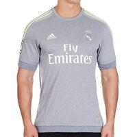 Adidas Mens Real Madrid Grey Away Jersey Football Soccer Free Tracked Post