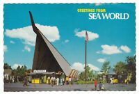 1974 SAN DIEGO CA ENTRANCE SEA WORLD OCEANARIUM VINTAGE POSTCARD CALIFORNIA OLD