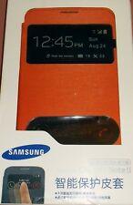 Samsung Flip Cover case for Galaxy Note II, GT-N7100, GT-N7108, Orange