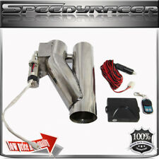 """Fit 3"""" Exhaust Header Piping System UNIVERSAL ADJ Remotor Exhaust Cut off Valve"""