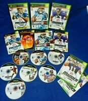 7 Xbox;Madden NFL 2002,2005,08,NCAA Football 2005/Top Spin,w/Mans,Arena Ftball,+