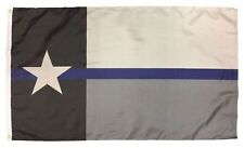 3x5 State of Texas Thin Blue Line Police Flag 3'x5' Banner Brass Grommets