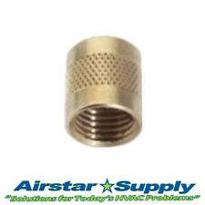 """1/4"""" Flare Cap Round Brass w/ Neoprene O-Ring Seal • USA MADE • Pack of (25)"""