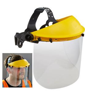 CLEAR SAFETY FACE MASK SHIELD VISOR SPARKS GRINDING STRIMMER GARDEN CUTTING !!!