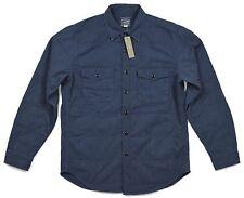 *NEW* J.Crew Men's Medium Quilted Twill Workshirt in Vintage Navy Blue *NWT*